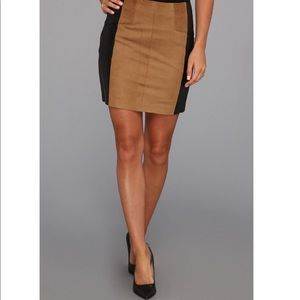 Nannette Lepore Castle' Leather Skirt
